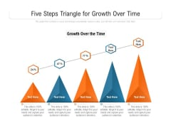 Five Steps Triangle For Growth Over The Time Ppt PowerPoint Presentation File Guidelines PDF
