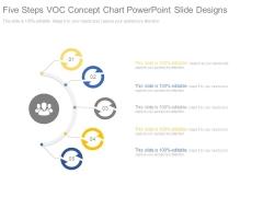 Five Steps Voc Concept Chart Powerpoint Slide Designs