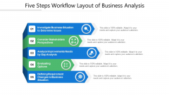 Five Steps Workflow Layout Of Business Analysis Ppt PowerPoint Presentation Gallery Styles PDF