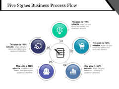 Five Stgaes Business Process Flow Ppt PowerPoint Presentation Show Vector