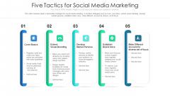 Five Tactics For Social Media Marketing Ppt Model Summary PDF
