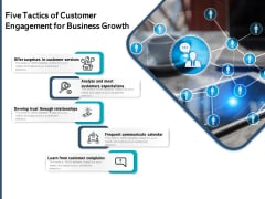 Five Tactics Of Customer Engagement For Business Growth Ppt PowerPoint Presentation Show Images PDF
