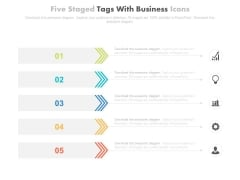Five Tags For Marketing Information Management Powerpoint Slides