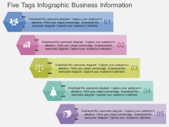 Five Tags Infographic Business Information Powerpoint Templates