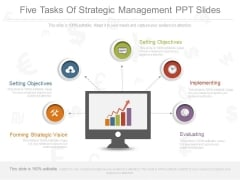 Five Tasks Of Strategic Management Ppt Slides