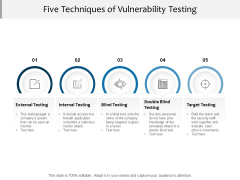Five Techniques Of Vulnerability Testing Ppt PowerPoint Presentation Model Icon
