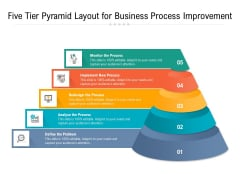 Five Tier Pyramid Layout For Business Process Improvement Ppt PowerPoint Presentation File Professional PDF