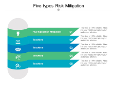 Five Types Risk Mitigation Ppt PowerPoint Presentation Portfolio Structure Cpb