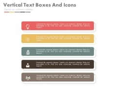Five Vertical Banners With Icons Powerpoint Slides