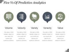 Five Vs Of Predictive Analytics Ppt PowerPoint Presentation Images