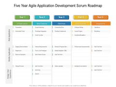 Five Year Agile Application Development Scrum Roadmap Clipart