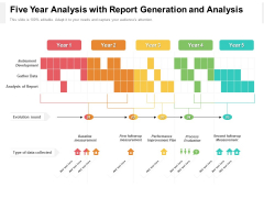 Five Year Analysis With Report Generation And Analysis Brochure