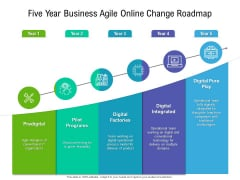 Five Year Business Agile Online Change Roadmap Infographics