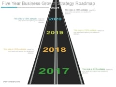 Five Year Business Growth Strategy Roadmap Ppt PowerPoint Presentation Show