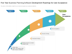 Five Year Business Planning Software Development Roadmap For User Acceptance Sample