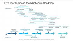 Five Year Business Team Schedule Roadmap Professional