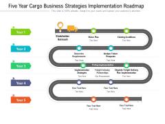 Five Year Cargo Business Strategies Implementation Roadmap Brochure