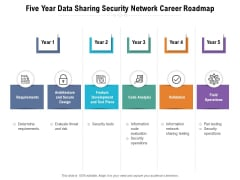 Five Year Data Sharing Security Network Career Roadmap Clipart