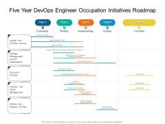 Five Year Devops Engineer Occupation Initiatives Roadmap Rules