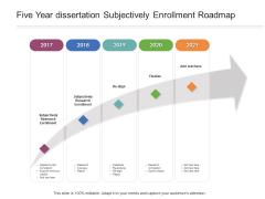 Five Year Dissertation Subjectively Enrollment Roadmap Infographics