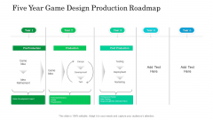 Five Year Game Design Production Roadmap Rules