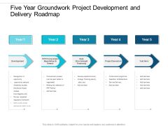 Five Year Groundwork Project Development And Delivery Roadmap Icons