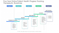 Five Year Online Patient Health Progress Tracking Therapeutic Roadmap Icons