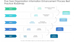 Five Year Organization Information Enhancement Process Best Practice Roadmap Demonstration