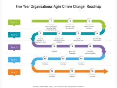 Five Year Organizational Agile Online Change Roadmap Professional