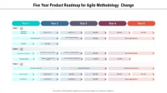 Five Year Product Roadmap For Agile Methodology Change Introduction