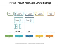 Five Year Product Vision Agile Scrum Roadmap Clipart