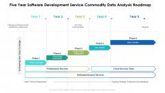 Five Year Software Development Service Commodity Data Analysis Roadmap Clipart