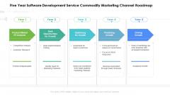 Five Year Software Development Service Commodity Marketing Channel Roadmap Portrait