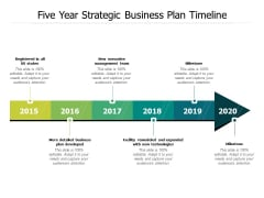 Five Year Strategic Business Plan Timeline Ppt PowerPoint Presentation Infographic Template Clipart Images PDF