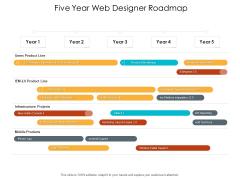 Five Year Web Designer Roadmap Slides