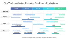 Five Yearly Application Developer Roadmap With Milestones Graphics
