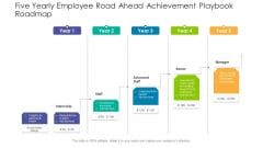 Five Yearly Employee Road Ahead Achievement Playbook Roadmap Clipart