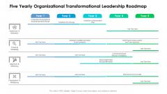 Five Yearly Organizational Transformational Leadership Roadmap Formats