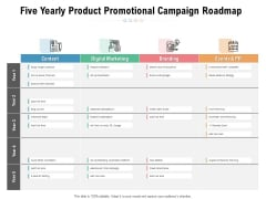 Five Yearly Product Promotional Campaign Roadmap Professional