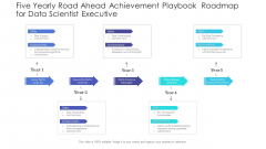 Five Yearly Road Ahead Achievement Playbook Roadmap For Data Scientist Executive Pictures