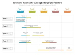 Five Yearly Roadmap For Building Banking Digital Assistant Graphics