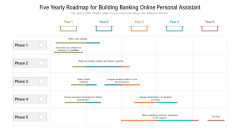 Five Yearly Roadmap For Building Banking Online Personal Assistant Designs