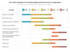 Five Yearly Roadmap For Providing Digital Assistant Service To Organization Pictures