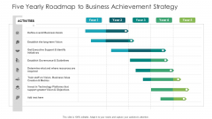 Five Yearly Roadmap To Business Achievement Strategy Ppt File Influencers PDF
