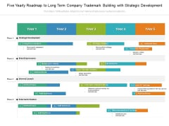 Five Yearly Roadmap To Long Term Company Trademark Building With Strategic Development Rules