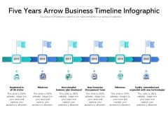 Five Years Arrow Business Timeline Infographic Ppt PowerPoint Presentation Infographics Information PDF