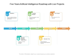 Five Years Artificial Intelligence Roadmap With Live Projects Brochure
