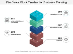 Five Years Block Timeline For Business Planning Ppt Powerpoint Presentation Portfolio Brochure