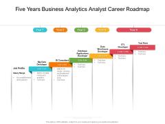 Five Years Business Analytics Analyst Career Roadmap Download