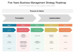 Five Years Business Management Strategy Roadmap Microsoft